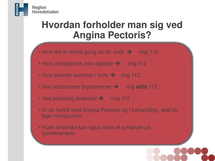Hvordan forholder man sig ved Angina Pectoris?