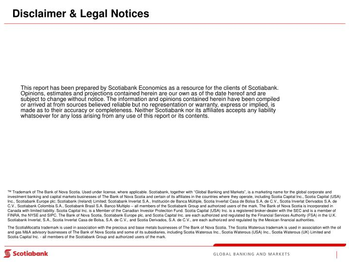 Disclaimer & Legal Notices