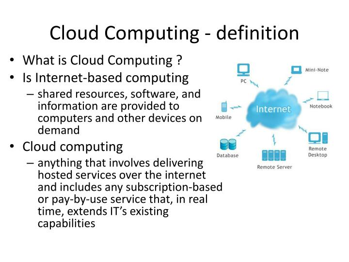 Cloud Computing - definition