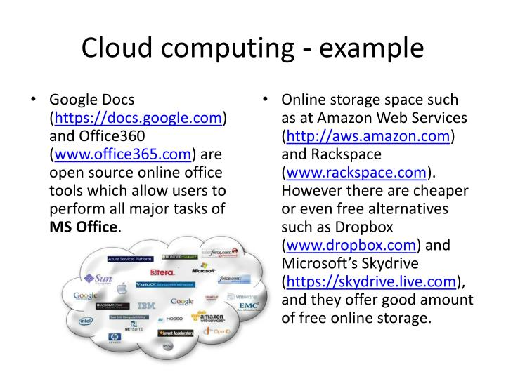 Cloud computing - example