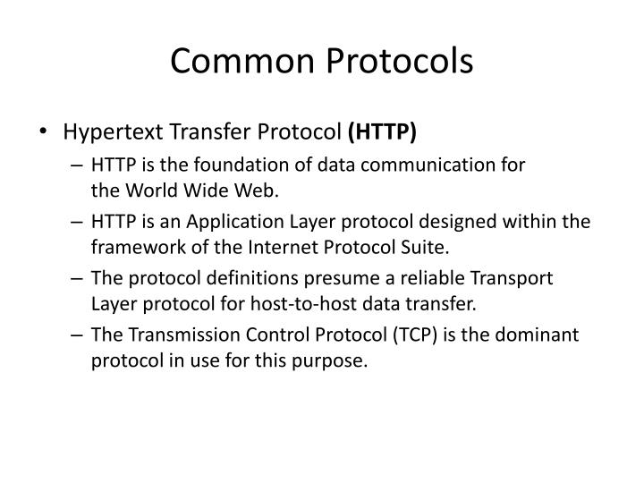 Common Protocols
