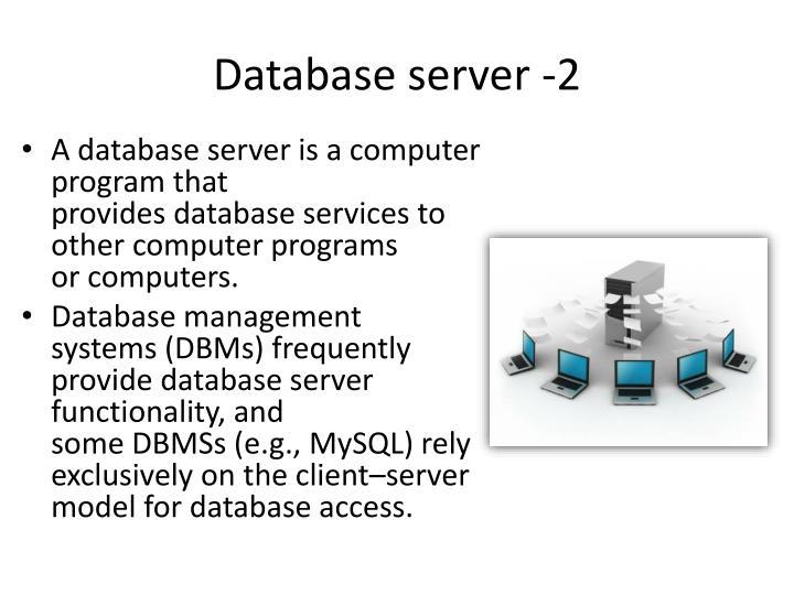 Database server -2