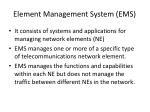 element management system ems