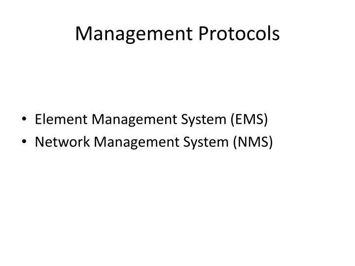 Management Protocols