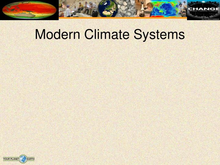 Modern Climate Systems