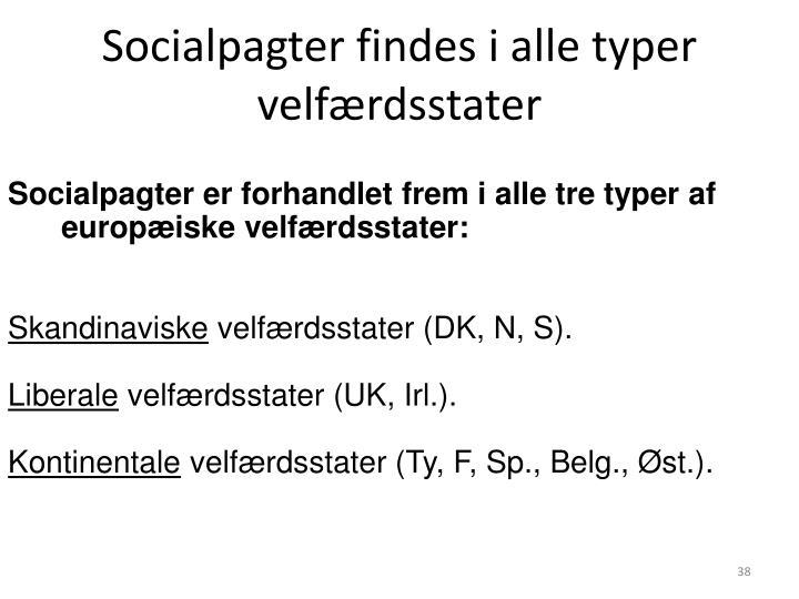 Socialpagter findes i alle typer velfærdsstater