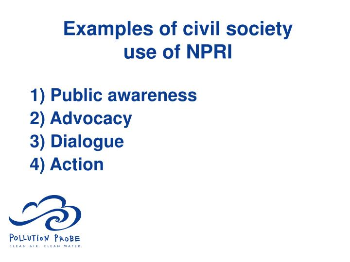 Examples of civil society