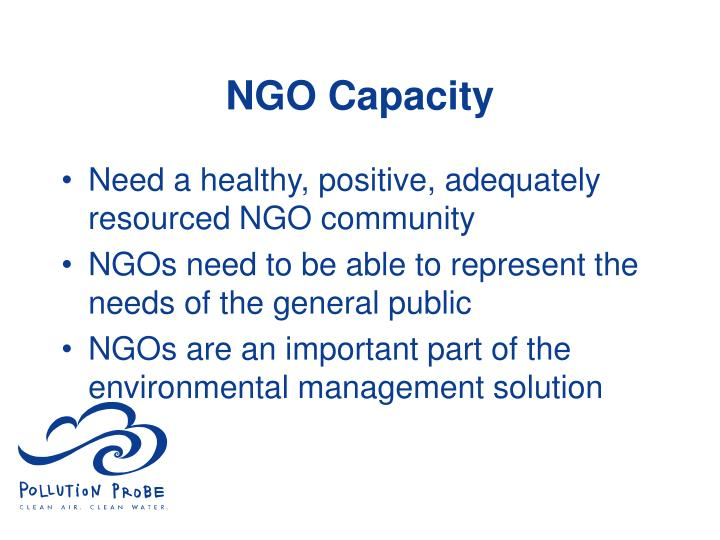 NGO Capacity