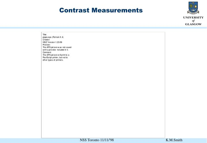 Contrast Measurements