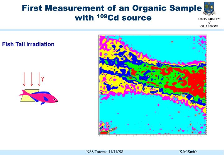 First Measurement of an Organic Sample