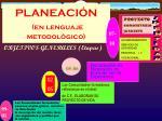 planeaci n en lenguaje metodol gico