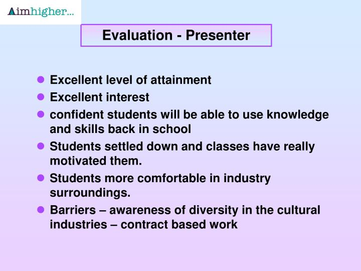 Evaluation - Presenter