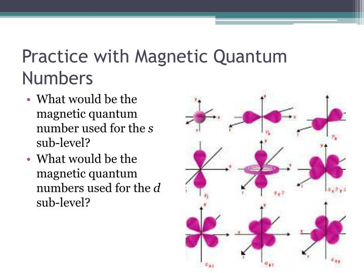 Practice with Magnetic Quantum Numbers