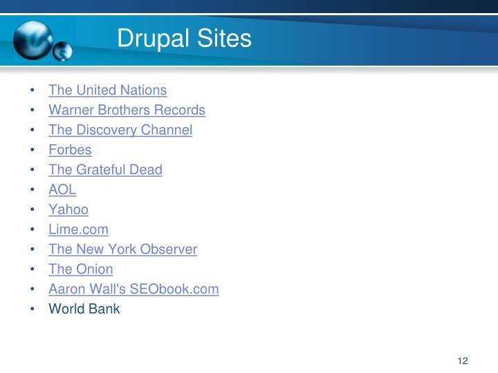Drupal Sites