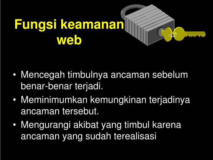 Fungsi keamanan web