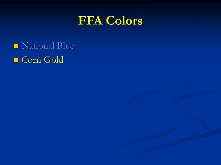 FFA Colors