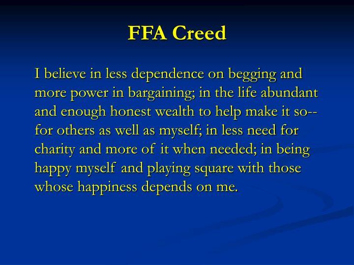 FFA Creed