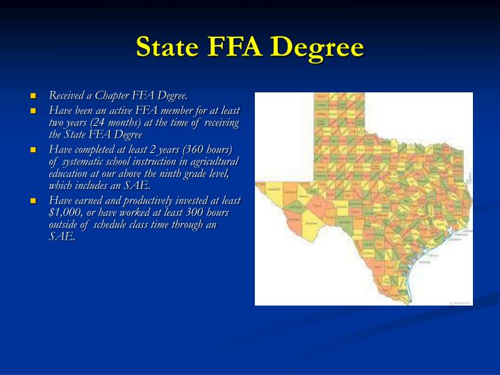 State FFA Degree