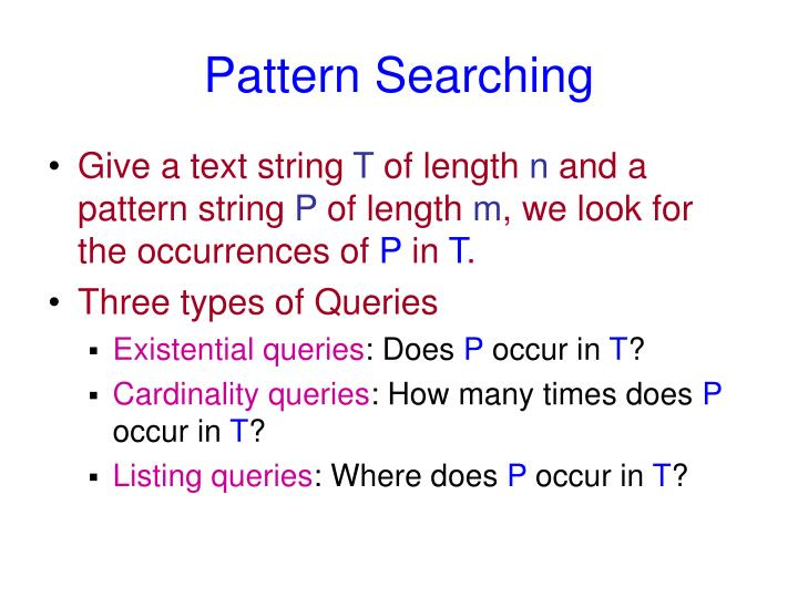 Pattern Searching