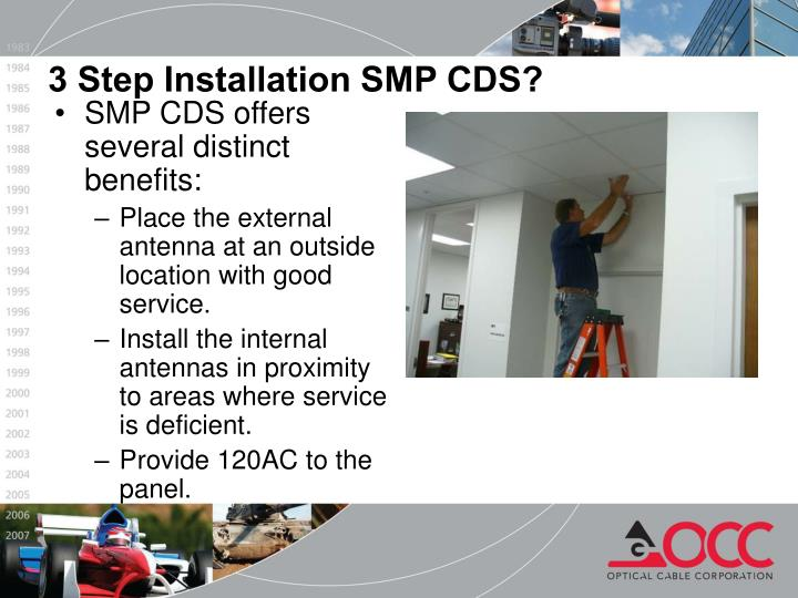 3 Step Installation SMP CDS?