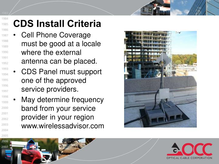 CDS Install Criteria