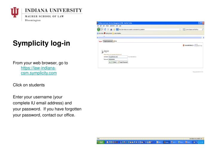 Symplicity log-in