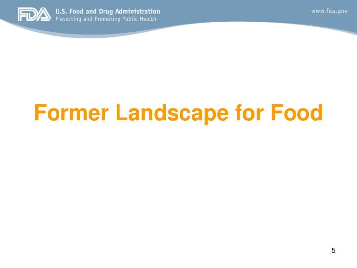 Former Landscape for Food