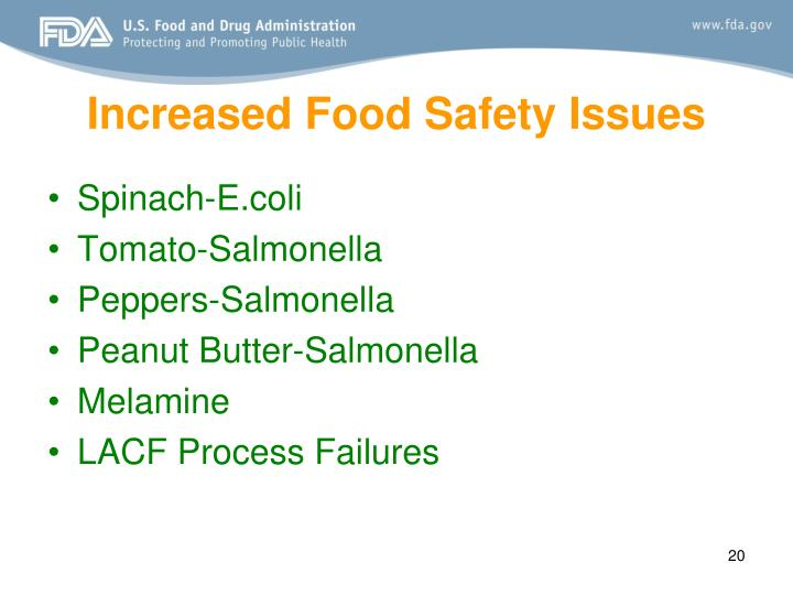 Increased Food Safety Issues