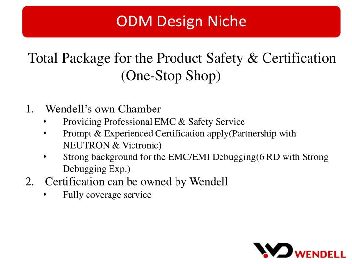 Total Package for the Product Safety & Certification
