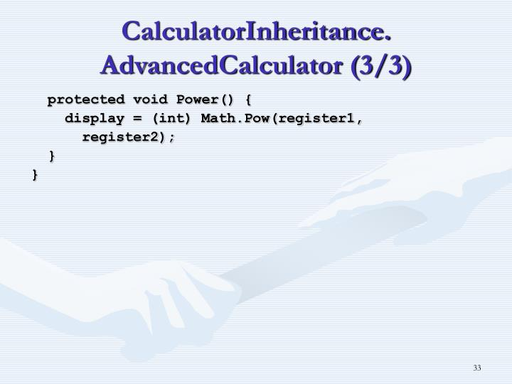 CalculatorInheritance.