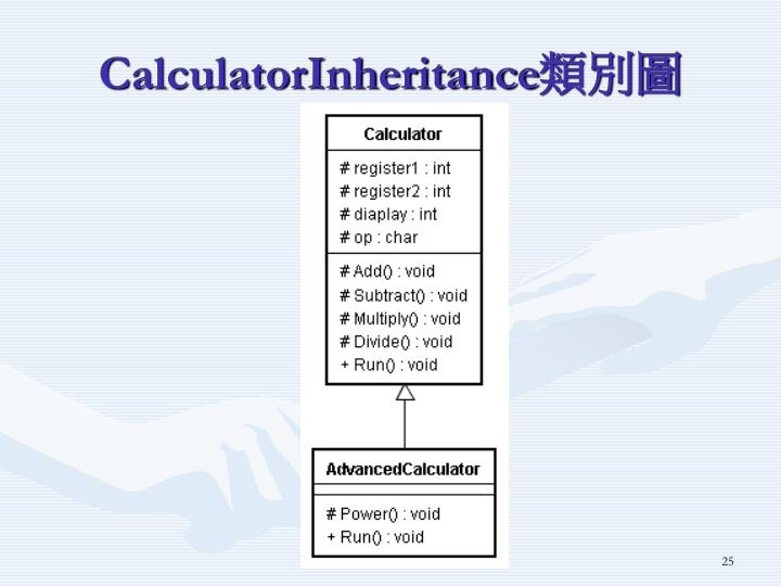CalculatorInheritance