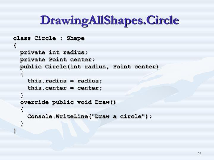 DrawingAllShapes.Circle