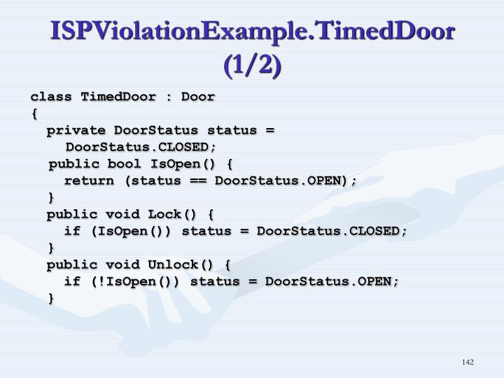 ISPViolationExample.TimedDoor (1/2)