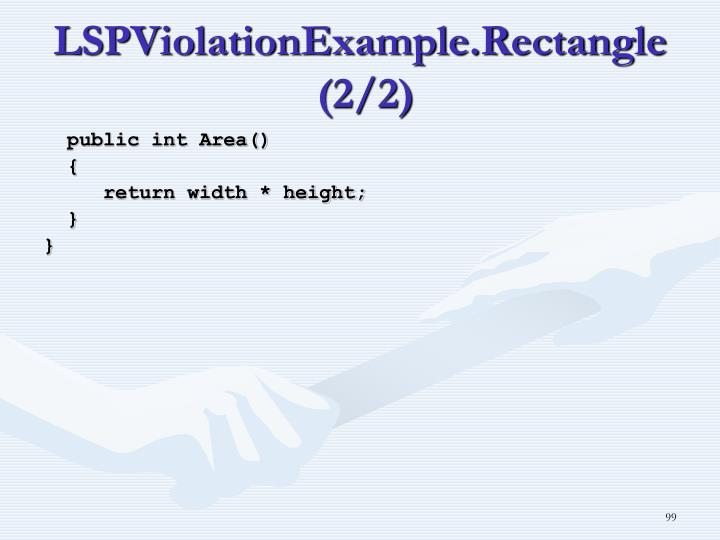 LSPViolationExample.Rectangle