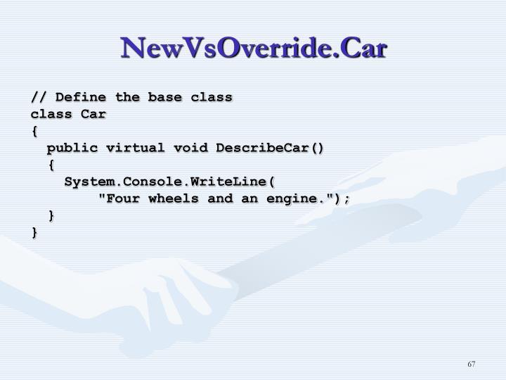 NewVsOverride.Car