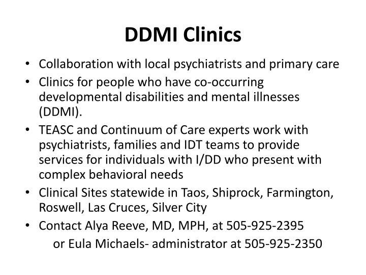 DDMI Clinics