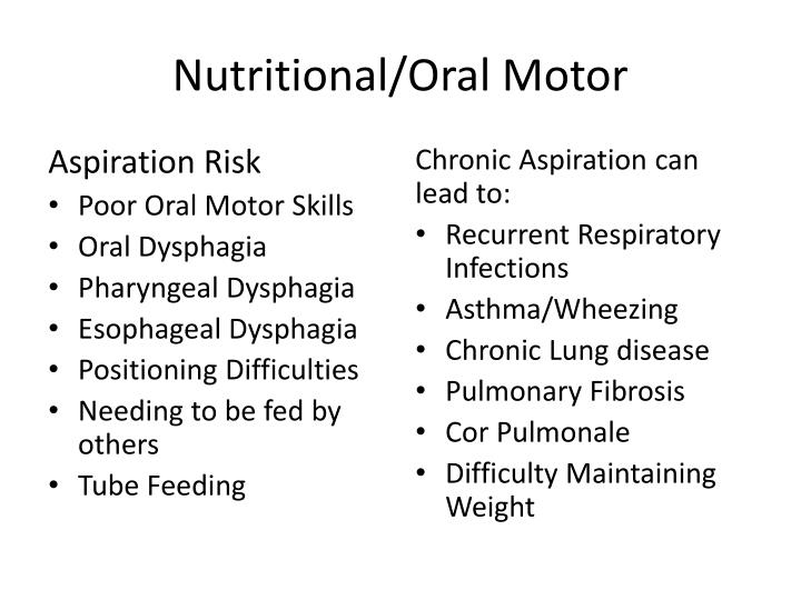 Nutritional/Oral Motor