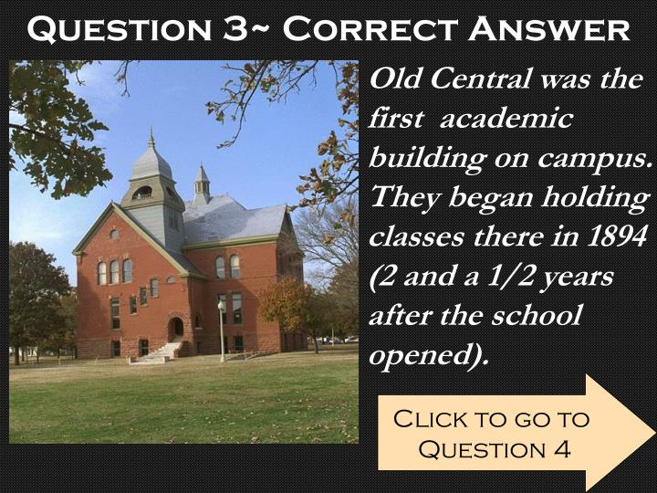 Question 3~ Correct Answer