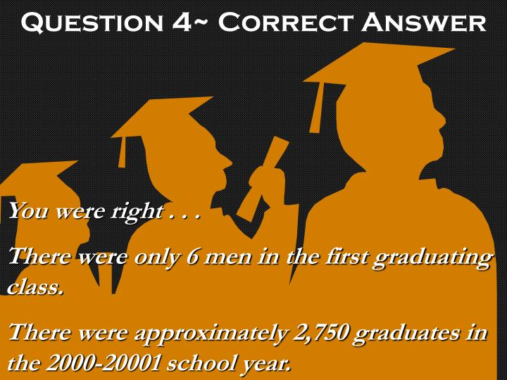 Question 4~ Correct Answer