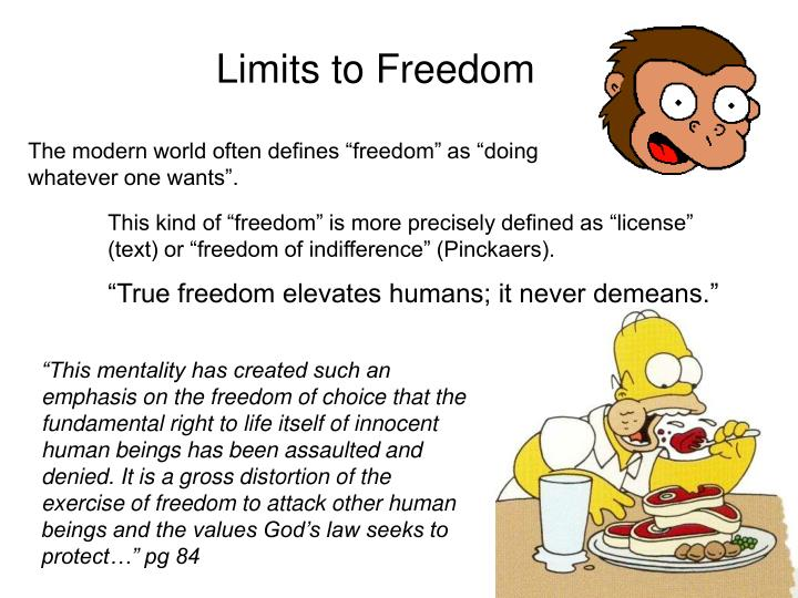 Limits to Freedom