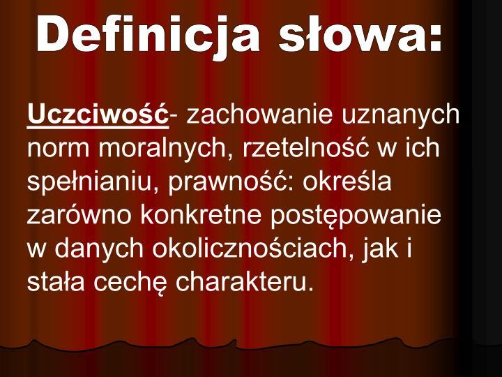 Definicja słowa: