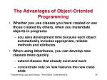 the advantages of object oriented programming