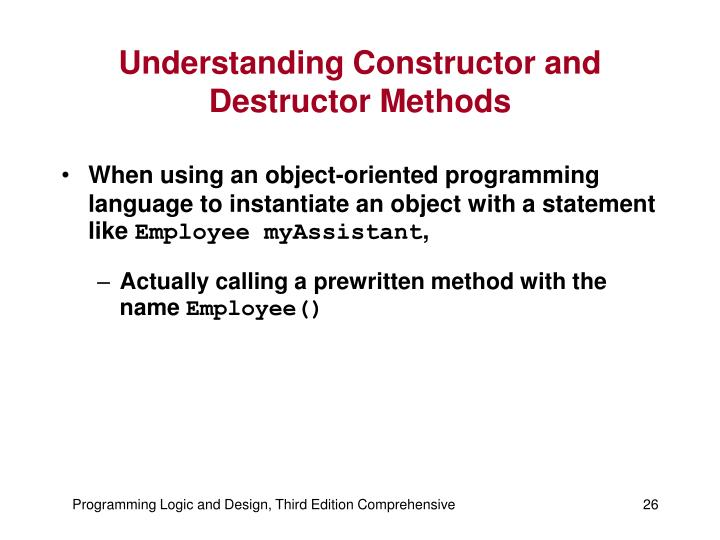 Understanding Constructor and Destructor Methods