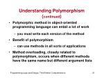 understanding polymorphism continued1