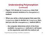 understanding polymorphism continued2