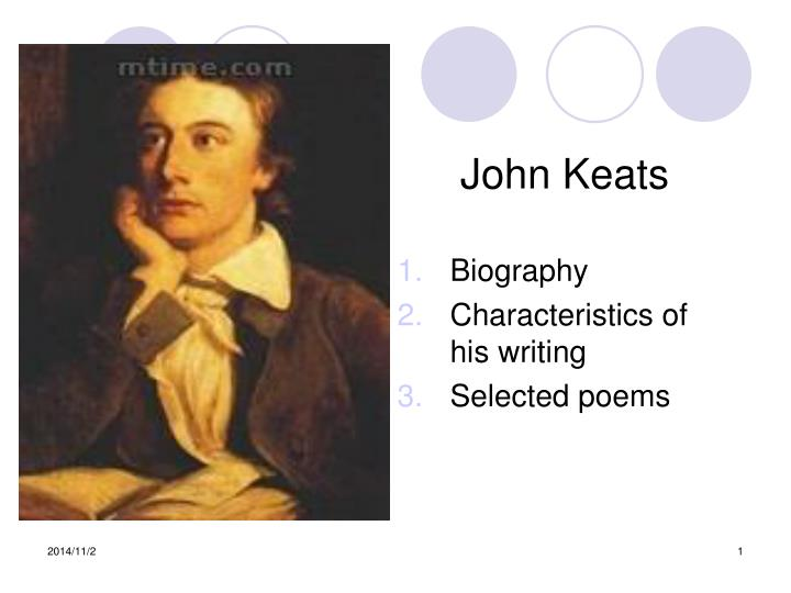 an essay by keats The great odes by keats the ode being discussed is one of the `great odes of 1819' written by john keats the set of odes consist of six odes written on themes as diverse as `a nightingale', `melancholy' or `autumn.