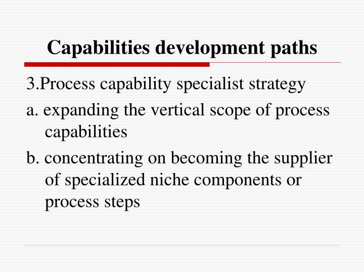 Capabilities development paths