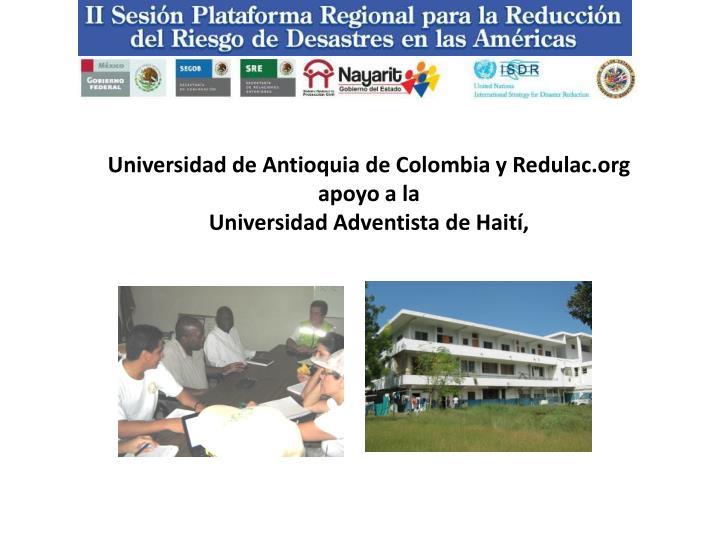 Universidad de Antioquia de Colombia y Redulac.org apoyo a la