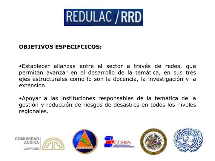 OBJETIVOS ESPECIFCICOS: