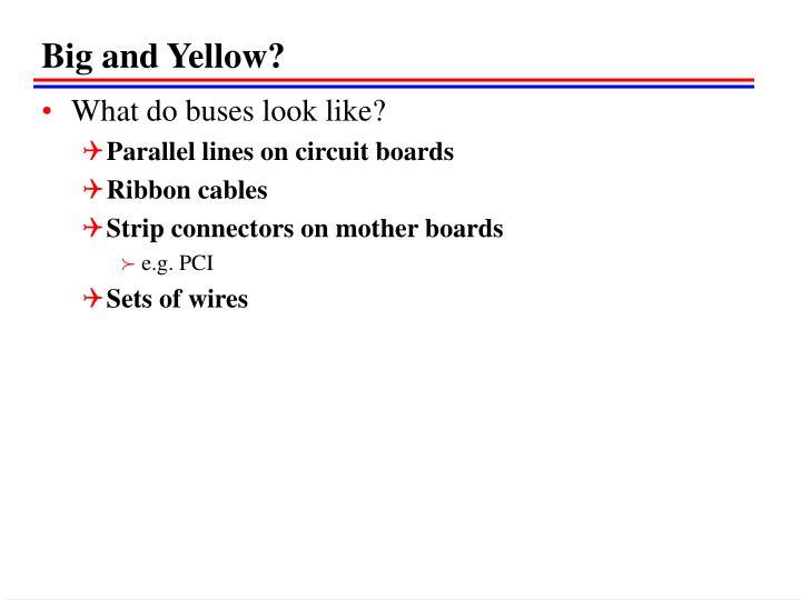 Big and Yellow?